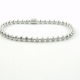 Cartier - Perles De Diamants Diamond Tennis Bracelet (750WG)