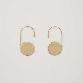 COS - drop disk earrings in gold