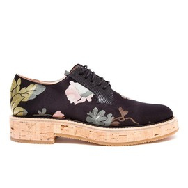 DRIES VAN NOTEN - Floral Fabric Brogues