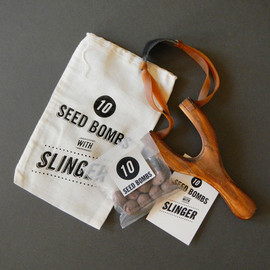 Seed Bombs with Slinger - Slingshot and Seed Balls for Growing Wildflowers