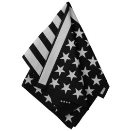 under los angeles - American Flag Bandana (Black and Off White)