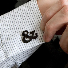 veer.com - Ampersand Faux Cuff Links
