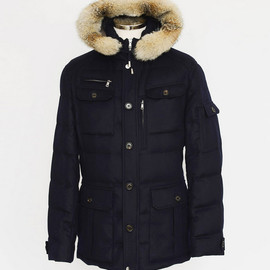 BRUNELLO CUCINELLI - Navy Down Jacket