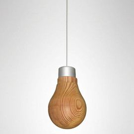 RYOSUKE FUKUSADA - Wooden Light Bulb That Really Glows