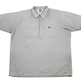 BEN DAVIS - Vintage Ben Davis Work Shirt in Gray Made in USA Mens Size XL