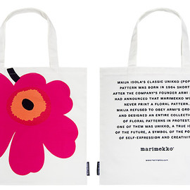 marimekko - UNIKKO 50TH ANNIVERSARY FABRIC BAG