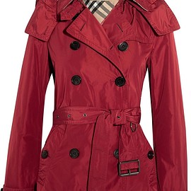 Burberry - Balmoral hooded shell trench coat