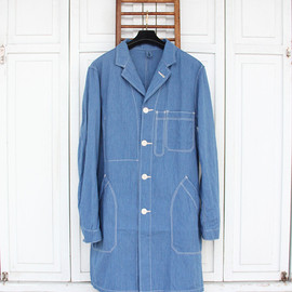 A VONTADE - Duster Coat (Blue Stripe)