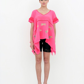 zayan - Makina Top - Neon Coral