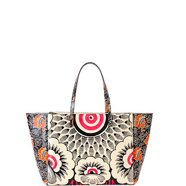 VALENTINO - SS2015 Covered Mixed Floral-Print Tote Bag, Red Multi