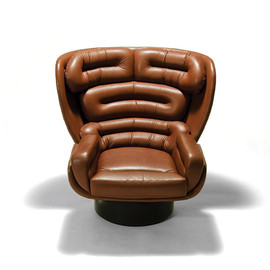 Joe Colombo - Della Rocca-'Elda' leather and fiberglass lounge chair, ca 1963