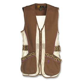 Browning - Sahara Shooting Vest for Her, Brown/Leopard
