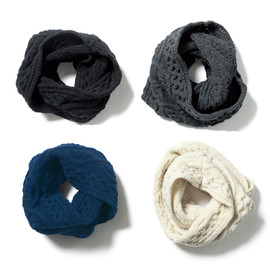 SOPHNET. - CABLE KNIT SNOOD