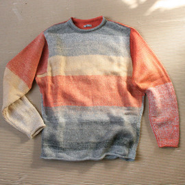Caviar size S Mens (M Womans ) Knit Cotton Tape and Kid Mohair Sweater