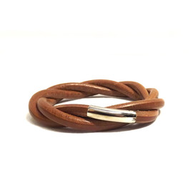 HERMES - Leather Tornado Bracelet