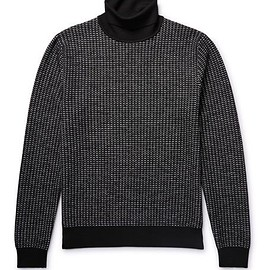 Berluti - Textured-Knit Wool Rollneck Sweater
