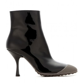 miu miu - Patent-leather ankle boots with rubber insert