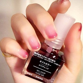 MUJI, クリアレッド - 桜貝ネイル
