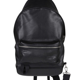 KRIS VAN ASSCHE, EASTPAK - EASTPAK BACKPACK WITH HARD SHELL BASE BLACK LEATEHR 2012-13AW