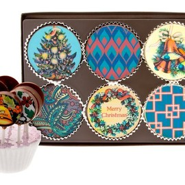 Rogue Confections - Christmas Chocolate Disk and Pop Sets