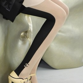 Chanel - Half-and-Half Stockings
