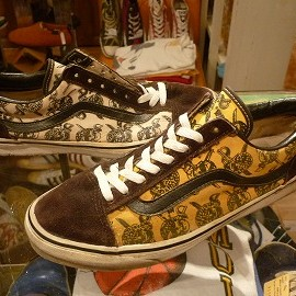 "vans - 「<used>90's vans SLDSKOOL yellow/white skullpirates/darkbrown""made in USA"" size:US9(27cm) 16000yen」完売"