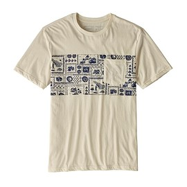 patagonia - M's Limited Edition Opihi Man Organic Pocket T-Shirt, Natural w/Classic Navy (NCV)
