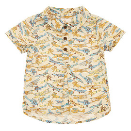 "Liberty London - ""Tom's Jets"" Print Shirt"