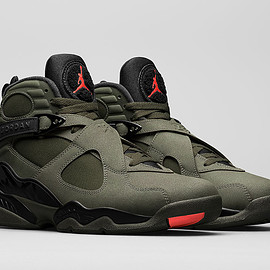 Jordan Brand - Air Jordan 8 - Sequoia/Black/Wolf Grey/Max Orange