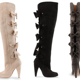 Plomo Michaella - BOW BACK OVER THE KNEE BOOTS