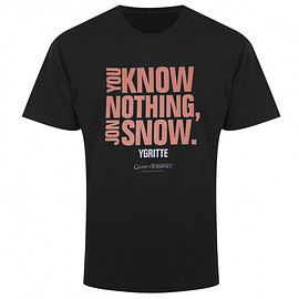 Game of Thrones You Know Nothing, Jon Snow T-Shirt, Large