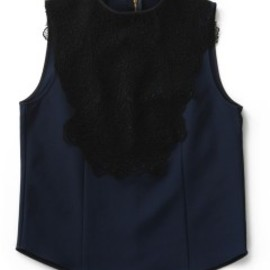 TOGA PULLA - Nylon Keysey Top (navy)