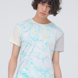 wed - 【Wed】EMO blue Sleeve Switch T-Shirts