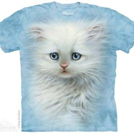 THE MOUNTAIN - FLUFFY WHITE KITTEN T-SHIRT
