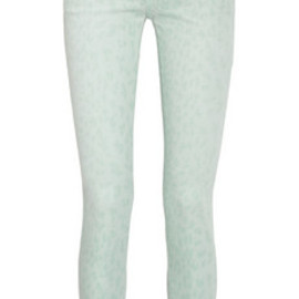 Current/Elliott - The Stiletto low-rise leopard-print skinny jeans