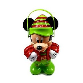 Disney - Disneyland 2015 Mickey Mouse Christmas XMAS Holiday ELF Souvenir Popcorn Bucket