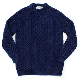 INVERALLAN - 1A Crewneck Sweater - Dark Denim 01
