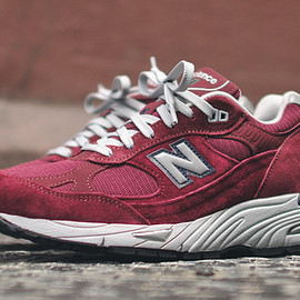 New Balance - ニューバランス M991 CO メイド・イン USA - バーガンディ/グレー (M991CO)、New Balance M991 Made in USA - Burgundy/Grey