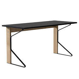 KAARI - REB 005 KAARI DESK BLACK LINOLIUM / NATURAL OAK