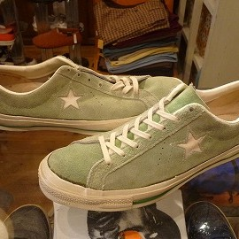 "converse - 「<used>70's converse SUEDE LEATHER ALLSTAR OX green""made in USA"" size:US11/h(30cm) 90000yen」完売"