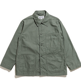 WORKADAY - Utility Jacket-Reversed Sateen-Olive