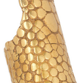 Yves Saint Laurent - Gold-plated stingray-effect ring