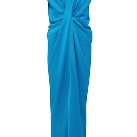 Lanvin - Twist-front washed-satin maxi dress