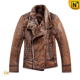 CWMALLS - CWMALLS® Leather Shearling Flight Jacket CW819056
