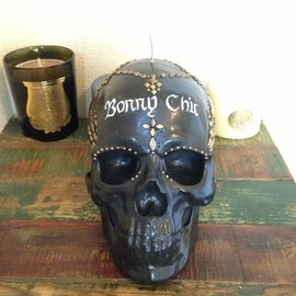 Handmade Candle - order made Scull-studs Candle