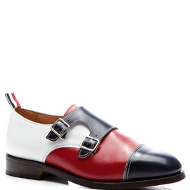 THOM BROWNE - Double Monk Strap In Fun Mix Calf