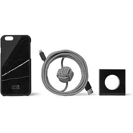 Native Union - Night Marble CLIC iPhone 6 Case, Stand and USB Cable Set