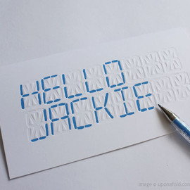 Upon a Fold - LCD 'WRITE YOUR OWN MESSAGE' CARD