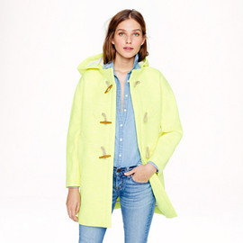 J.CREW - Collection basket-weave toggle coat