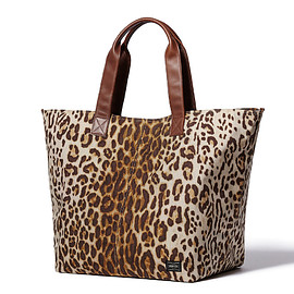 "HEAD PORTER - ""LEOPARD"" TOTE BAG (XL)"